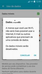 Como ativar e desativar uma rede de dados - Samsung Galaxy A5 - Passo 5