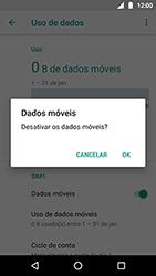 Como ativar e desativar uma rede de dados - Motorola Moto X4 - Passo 5