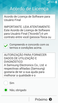 Como configurar pela primeira vez - Samsung Galaxy Note - Passo 7