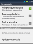 Como ativar e desativar uma rede de dados - Motorola Master - Passo 6