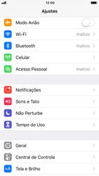 Como usar seu aparelho como um roteador de rede Wi-Fi - Apple iPhone 7 - Passo 2