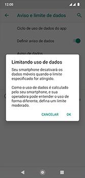 Como definir um aviso e limite de uso de dados - Motorola Moto G7 - Passo 12
