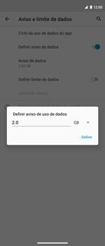 Como definir um aviso e limite de uso de dados - Motorola Moto G 5G Plus - Passo 10