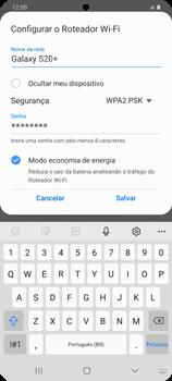 Como usar seu aparelho como um roteador de rede Wi-Fi - Samsung Galaxy S20 Plus 5G - Passo 9