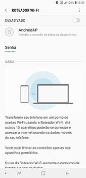Como usar seu aparelho como um roteador de rede Wi-Fi - Samsung Galaxy J8 - Passo 6