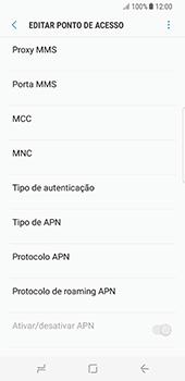 Como configurar a internet do seu aparelho (APN) - Samsung Galaxy S8 - Passo 11