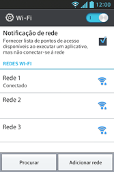 Como configurar uma rede Wi-Fi - LG Optimus L5 - Passo 7