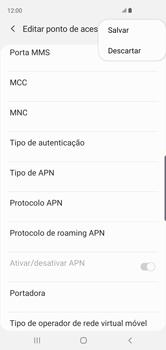 Como configurar a internet do seu aparelho (APN) - Samsung Galaxy S10 - Passo 15