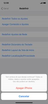 Como restaurar as configurações originais do seu aparelho - Apple iPhone X - Passo 7
