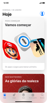 Como baixar aplicativos - Apple iPhone X - Passo 3
