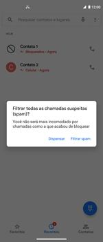 Como bloquear chamadas de um número específico - Motorola Moto G 5G Plus - Passo 8