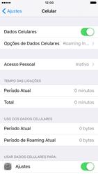 Como ativar e desativar uma rede de dados - Apple iPhone 6 - Passo 3