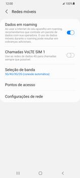 Como ativar e desativar o roaming de dados - Samsung Galaxy S21 Ultra 5G - Passo 6