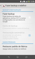 Como restaurar as configurações originais do seu aparelho - Sony Xperia E1 - Passo 5