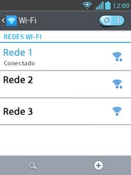 Como configurar uma rede Wi-Fi - LG Optimus L3 II - Passo 8
