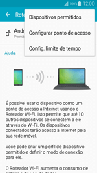 Como usar seu aparelho como um roteador de rede Wi-Fi - Samsung Galaxy A5 - Passo 6