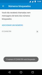 Como bloquear chamadas de um número específico - Motorola Moto G5 - Passo 9