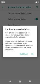 Como definir um aviso e limite de uso de dados - Motorola Moto G7 Play - Passo 12