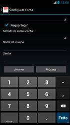 Como configurar seu celular para receber e enviar e-mails - Motorola RAZR MAXX - Passo 13