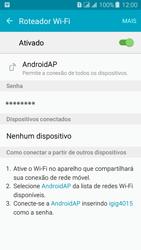 Como usar seu aparelho como um roteador de rede Wi-Fi - Samsung Galaxy J3 Duos - Passo 10