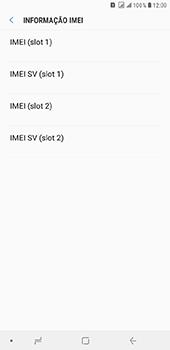 Como encontrar o número de IMEI do seu aparelho - Samsung Galaxy J8 - Passo 6