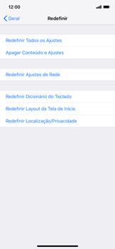 Como restaurar as configurações originais do seu aparelho - Apple iPhone XR - Passo 5