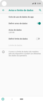 Como definir um aviso e limite de uso de dados - Motorola One Action - Passo 11