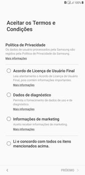 Como configurar pela primeira vez - Samsung Galaxy J4+ - Passo 7
