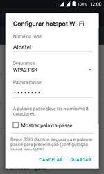 Como usar seu aparelho como um roteador de rede Wi-Fi - Alcatel Pixi 4 - Passo 7