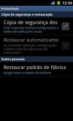 Como restaurar as configurações originais do seu aparelho - Samsung Galaxy S II - Passo 5