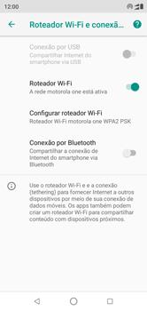 Como usar seu aparelho como um roteador de rede Wi-Fi - Motorola One - Passo 9