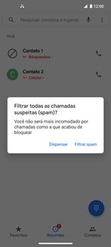 Como bloquear chamadas de um número específico - Motorola Edge - Passo 8