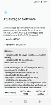 Como atualizar o software do seu aparelho - Samsung Galaxy S8 - Passo 6