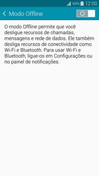 Como ativar e desativar o modo avião no seu aparelho - Samsung Galaxy Note - Passo 4