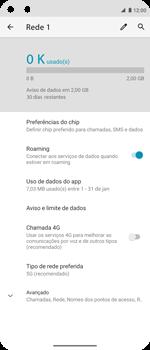 Como ativar e desativar o roaming de dados - Motorola Moto G 5G Plus - Passo 7
