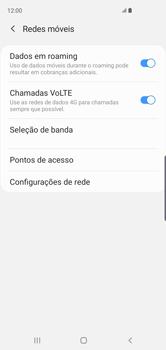 Como ativar e desativar o roaming de dados - Samsung Galaxy S10 - Passo 6