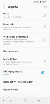 Como usar seu aparelho como um roteador de rede Wi-Fi - Samsung Galaxy S9 - Passo 4