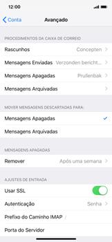Como configurar seu celular para receber e enviar e-mails - Apple iPhone X - Passo 24