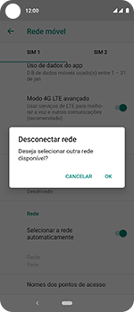 Como selecionar o tipo de rede adequada - Motorola One Vision - Passo 11