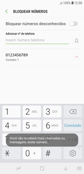 Como bloquear chamadas de um número específico - Samsung Galaxy J4 Core - Passo 10