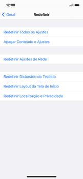 Como restaurar as configurações originais do seu aparelho - Apple iPhone 11 Pro - Passo 5