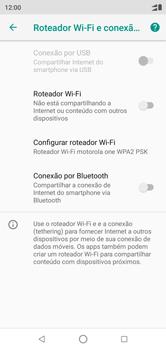 Como usar seu aparelho como um roteador de rede Wi-Fi - Motorola One - Passo 8