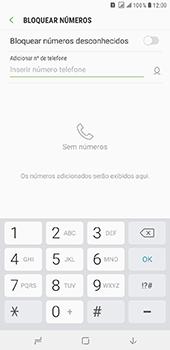 Como bloquear chamadas de um número específico - Samsung Galaxy J8 - Passo 7