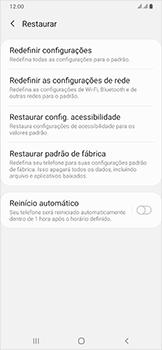 Como restaurar as configurações originais do seu aparelho - Samsung Galaxy A50 - Passo 6