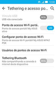 Como usar seu aparelho como um roteador de rede Wi-Fi - Asus ZenFone Go - Passo 9