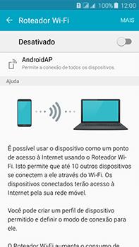 Como usar seu aparelho como um roteador de rede Wi-Fi - Samsung Galaxy J7 - Passo 9