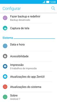 Como encontrar o número de IMEI do seu aparelho - Asus ZenFone 3 - Passo 3
