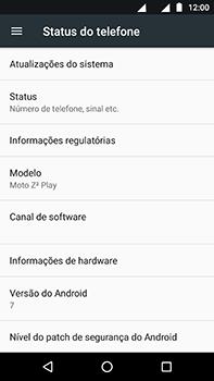 Como encontrar o número de IMEI do seu aparelho - Motorola Moto Z2 Play - Passo 4