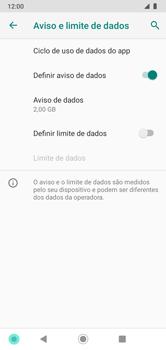 Como definir um aviso e limite de uso de dados - Motorola Moto G7 Power - Passo 8