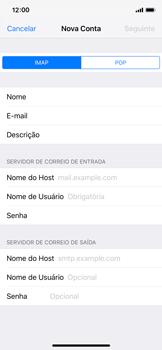 Como configurar seu celular para receber e enviar e-mails - Apple iPhone X - Passo 11